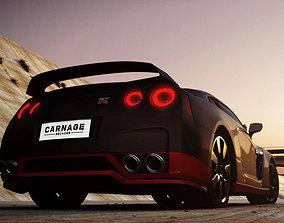 3D asset Nissan GTR
