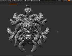 Skull Pendant 3d print model 19 biomechanical