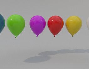 3D asset Low-poly Balloon