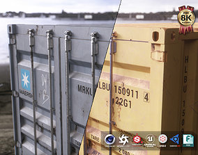 3D model Shipping Containers Kitbash Pack rusty