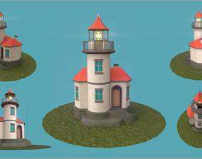 3D model Stylized Cartoony Lighthouse
