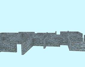 3D asset Stone Wall