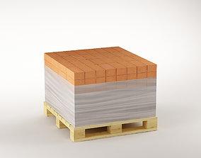 Bricks on the pallet 02 3D