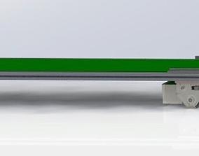 3D model profile Large belt conveyor