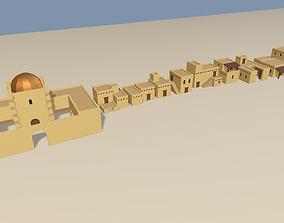 3D asset Cartoon Arabian town