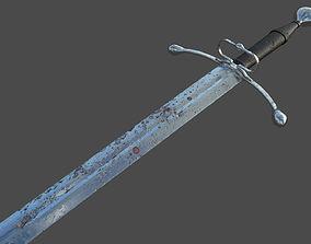 Battle-worn Bastard Sword 3D asset