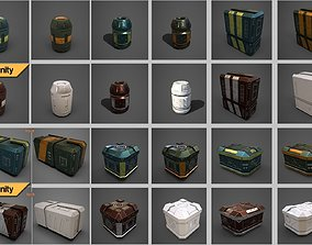 3D Sci-fi containers pack realtime