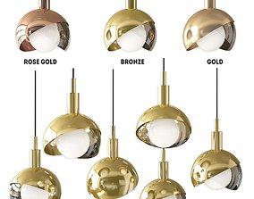 3D Pendant lamp Half Closed Balls