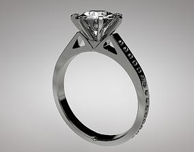 diamond ring 3D model low-poly