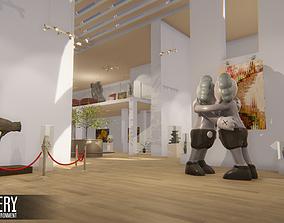 3D model Gallery - Showroom Environment