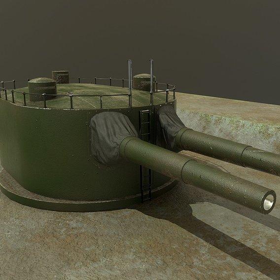 Coastal artillery 305 mm
