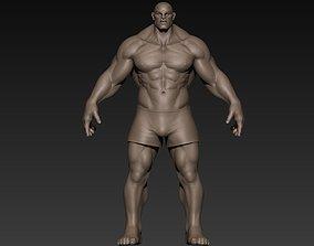 Muscular Man Basemesh 3D anatomy