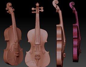 violin 3d model STL