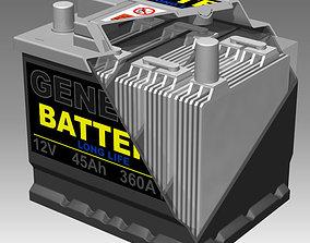 Generic Car Battery Full Interior 3D