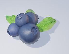 blue berries 3D model