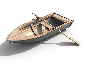 sail Wooden Boat 3D model