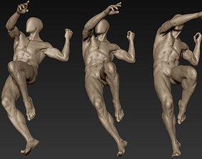 Male Full Body Sculpt Pose 12 3D