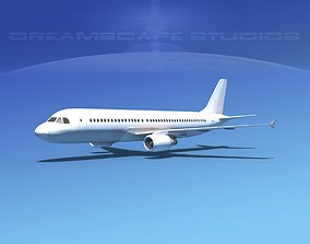 3D asset Airbus A320 LP Unmarked