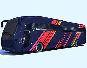 autobus Blue Colorful Bus 3 3D model