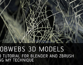 12 Cobwebs 3D models with tutorial for Blender and Zbrush