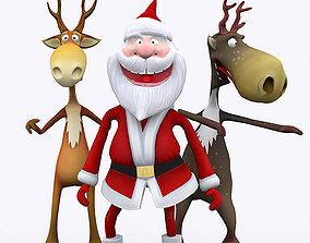 animated VR / AR ready 3DRT - Crazy Santa