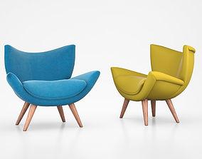 John Lewis Bump Chair Varese Turquoise 3D model