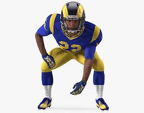 American Football Player LA Rams Rigged 3D