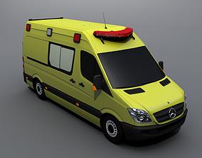 Mercedes-Benz Sprinter Ambulance 3D asset rigged
