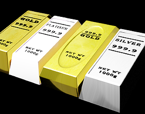 3D asset A1010Designer - Gold Silver Platinum