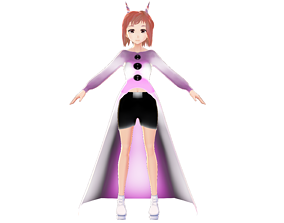 DEMON GIRL ASIAN ANIME CHARACTER 3D MODEL RIGGED rigged 1