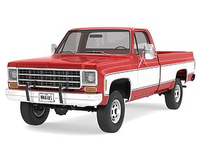 3D model GENERIC 4WD PICKUP TRUCK 7