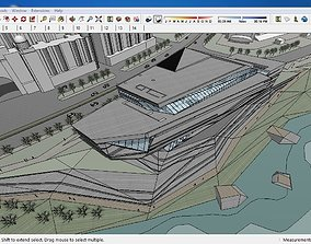 Sketchup Cultural center E6 3D model