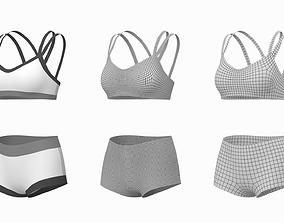 3D Woman Sportswear 08 Base Mesh Design Kit