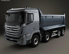 3D model Hyundai Xcient P540 Dump Truck 4-axle 2013