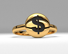 new fashion round dollar money jewelry ring printable