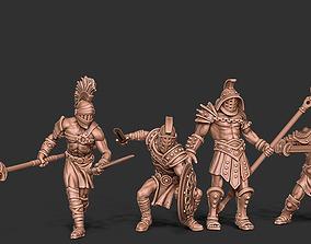 3D printable model Gladiator bundle - 4 miniatures 35 mm