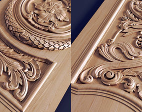 3D print model Carved door decorative