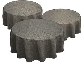 3D model round tablecloth