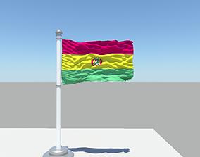 Bolivia flag 3D model