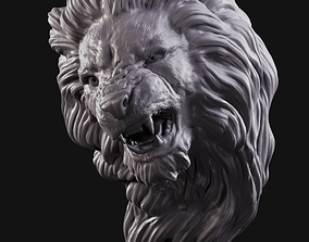 character 3D printable model Lion head