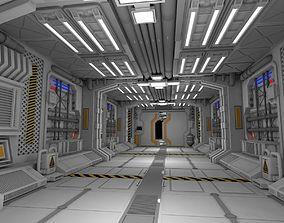 3D model Sci fi interior future