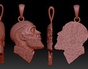 Nipsey Hussle pendant with tattoos 3D print model