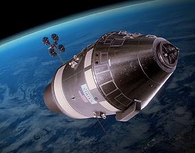 3D model Apollo command and service module