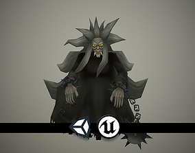Witch - Hand Painted and Animated 3D asset