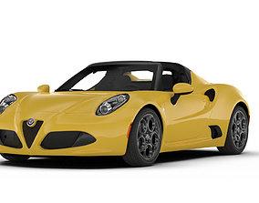 Alfa Romeo 4C Spider roadster 3D asset
