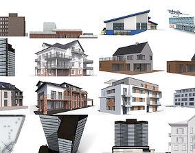 12x Secular buildings - 3D Building Models