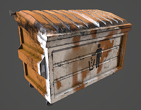 3D asset low-poly Trash Container Low Poly Game Ready