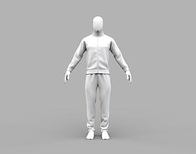 Men tracksuit sports jacket sweat pants Marvelous 3D model