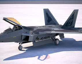 Lockheed Martin F22A Raptor JSOH 3D model