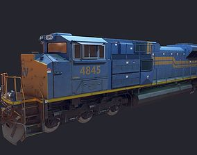EMD-SD70ACe Locomotion LowPoly 3D asset